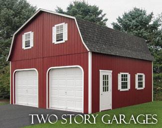 Garages 2 story garages in burlington atlantic nj for 1 story garage with living quarters