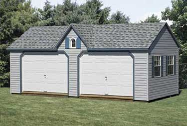 12' x 24' Vinyl A-Frame Dormer Garage built on site atlantic county NJ