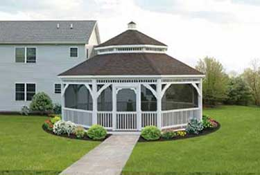 25' Octagon Gazebo sold in burlinton county NJ